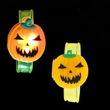 2018 nueva LED parpadeante calabaza niños Light Up brazalete juguetes Halloween decoración fiesta favores de partido regalo