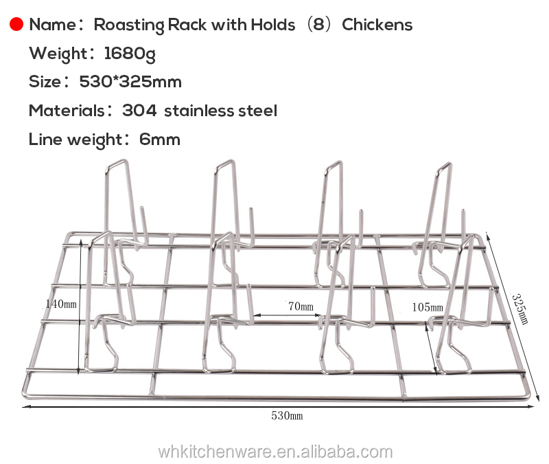 Stainless Steel roast chicken grill rack, french fryer basket justa electric combi oven commercial