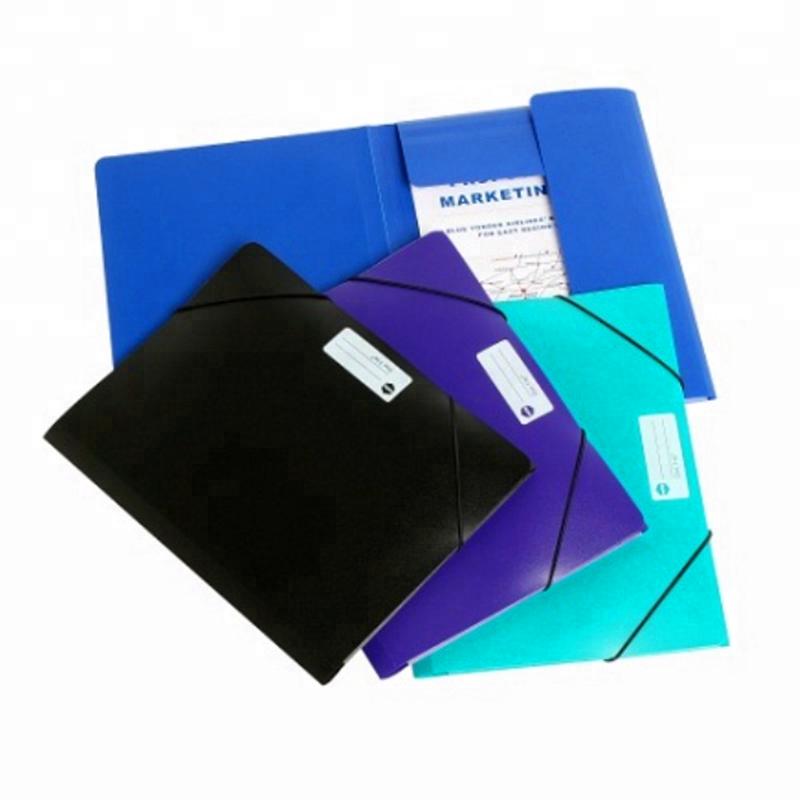 A4 Size Plastic PP Poly Elastic Straps Band Folders Wallets Documents Folders