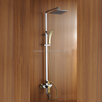 Brass Chrome Hot Cold Water Shower Kit With 3 Divider Mixer - Buy 3 ...