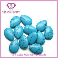 Synthetic Pear Cabochon Gemstone Beads Blue Turquoise