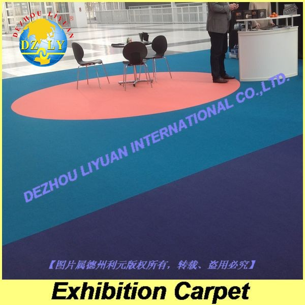 100% polyester needle punch nonwoven carpet for exhibition, big show, meeting room