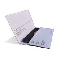 Zuoluo customized ultra pro hotel key card sleeves with gold stamping