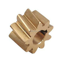 Small high precision brass helical gear