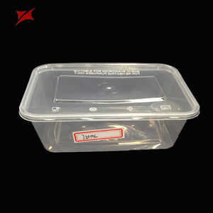 Disposable PP transparent storage container blister food plastic box