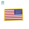 Custom Embroidery National USA American Flag Patch For Jeans Suspenders Trousers