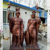 China Supplier Metal Bronze Figure Greek Solider Statues Large Outdoor Garden Decoration