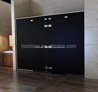 Modern Custom Complete Portable Shower Door Frameless Hinge Black Glass Shower Screen