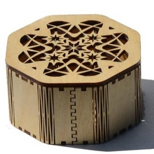 나무 jewelry box hexagonal gift wood box