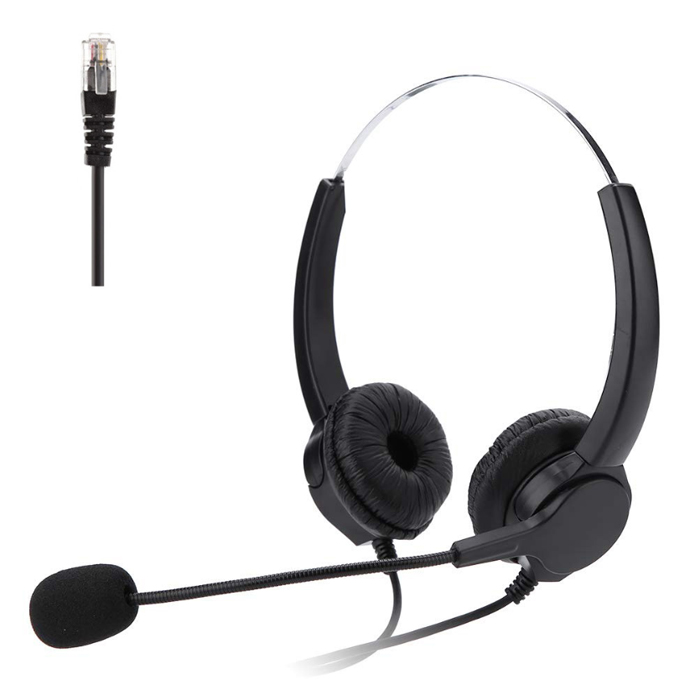 Rj45 call center headset
