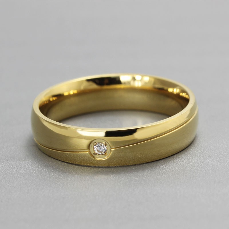 band bands ring contour wedding recycled rings gold simple mineralogy curve