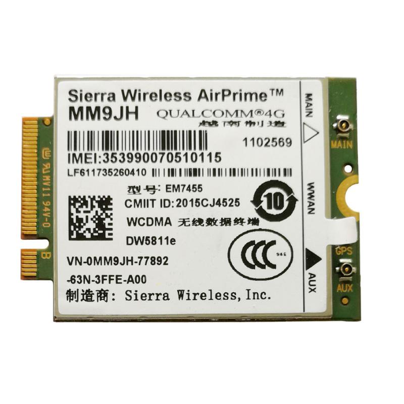Em7455 Airprime Lte 4g Wwan Card Modul Nirkabel Untuk Dell Laptop Dw5811e  Mm9jh - Buy Dw5811e Mm9jh,4g Kartu Jaringan Nirkabel,Kartu 4g Wwan Modul