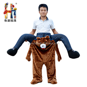2017 New Arrival Oktoberfest Funny Mascot Ride On Bear Piggy Back Costumes