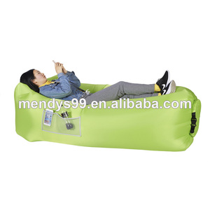 Outdoor waterproof inflatable lounger float with design