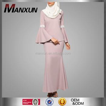 Baju Kurung In Malaysia Muslim Women Clothes Flare Long Sleeves Baju Kebaya Lace Design Baju Kurung Buy Baju Kurung In Malaysia Muslim Women