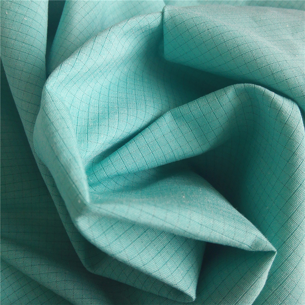 4mm stripe esd fiber 100% <strong>polyester</strong> and cotton conductive fabric