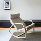 New design wooden rocking chair swing chair for bedroom