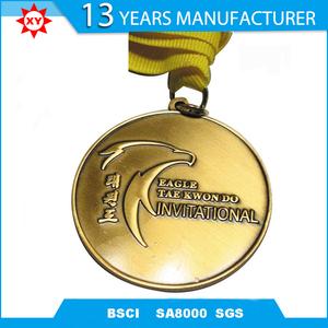 Custom Taekwondo Sport Gold Medal