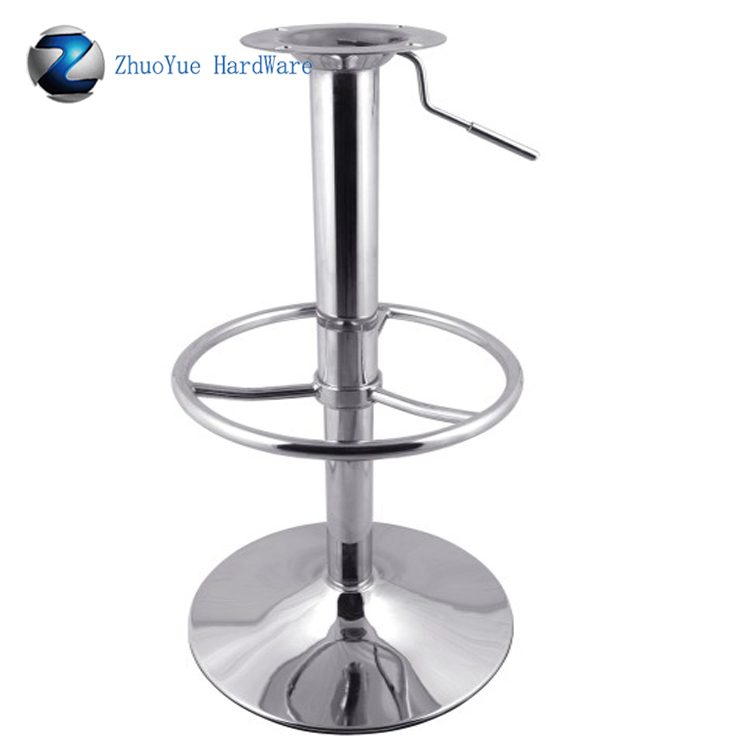 Cheap Price Round Metal Swivel Bar Chair Base Chrome Iron Plating Bar Stool  Base For Bar