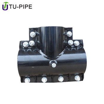 stainless steel cross pipe leak repair clamp for pvc pe ppr tube
