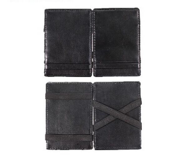 Black Color PU Leather Magic Wallet Mini Credit Business Card Tiket Money Clip Promotion Magic Wallet 200pcs DHL Free Shipping
