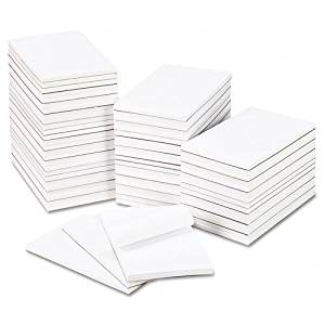 Universal : Bulk Scratch Pads, Unruled, 5 x 8, White, 100-Sheet Pads, 64 Pads per Carton -:- Sold as 2 Packs of - 64 - / - Total of 128 Each