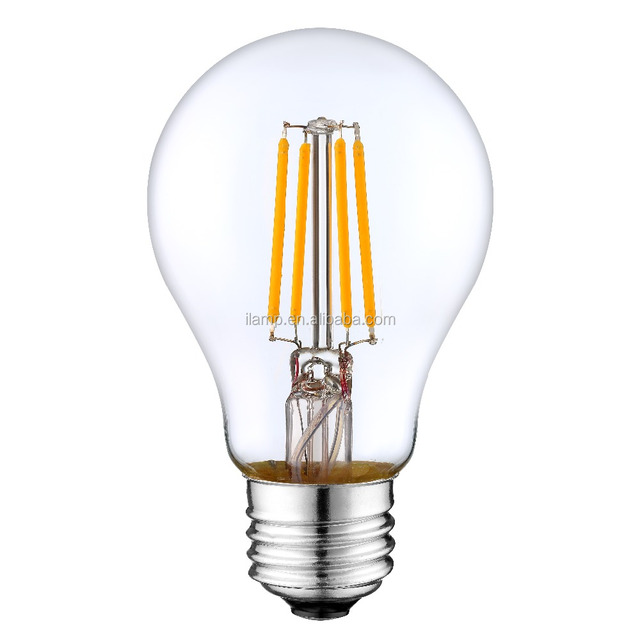 High Brightness Performance Lamp E27 DIM A60 4.5W 470lm 2700K Led Filament  Lamps Led Bulb