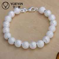 Wholesale muslim silver beads rosary bracelet
