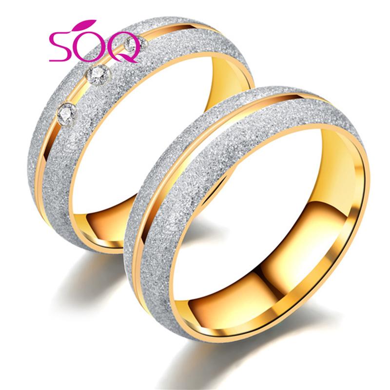 b225852d0c5f 2018 оптовая продажа нержавеющей стали модные свадебные кольца золото 18 К  украшения для Валентина