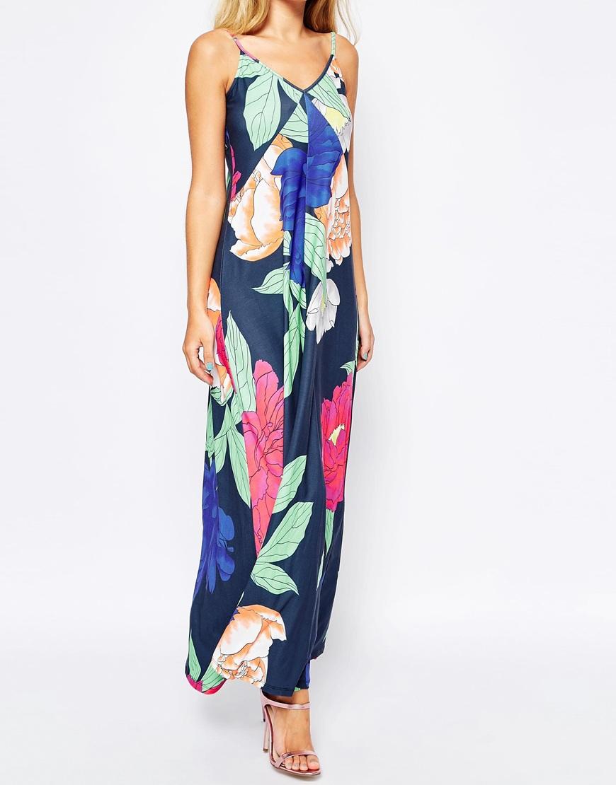 308ea0f8bf0bd0 strappy open rug maxi jurk in oversized bloemen dames prom dress gratis