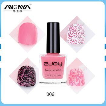 Angnya 2017 Fashion 10ml Zjoy Special Pink Color Nail Art Stamping