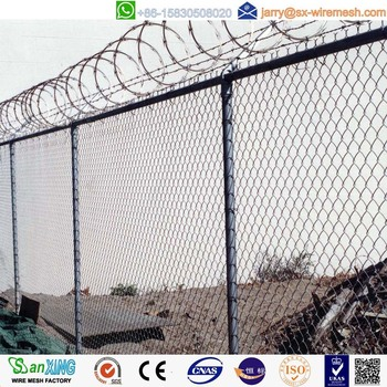 Chain Link Fence Top Barbed Wire - Buy Chain Link Fence ...