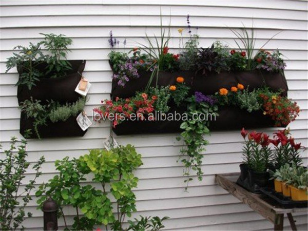 Gardens 4 Pocket Vertical Wall Garden Planter Felt Bag