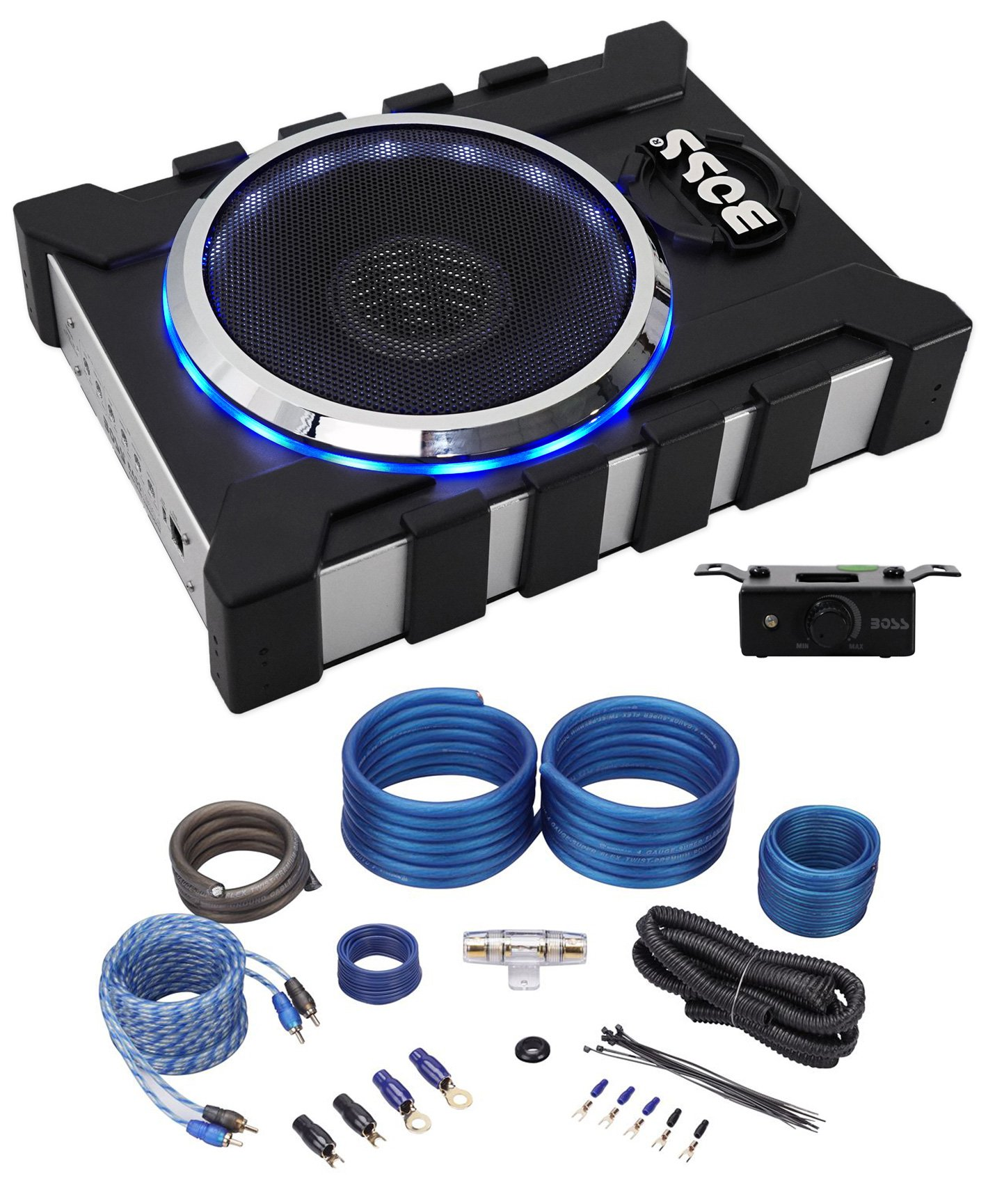 Cheap Subwoofer Wire Size Find Deals On Line At Powered Wiring 300w Power Amplifier Get Quotations Package Boss Bass13003 8 1300 Watt With 2 Channel