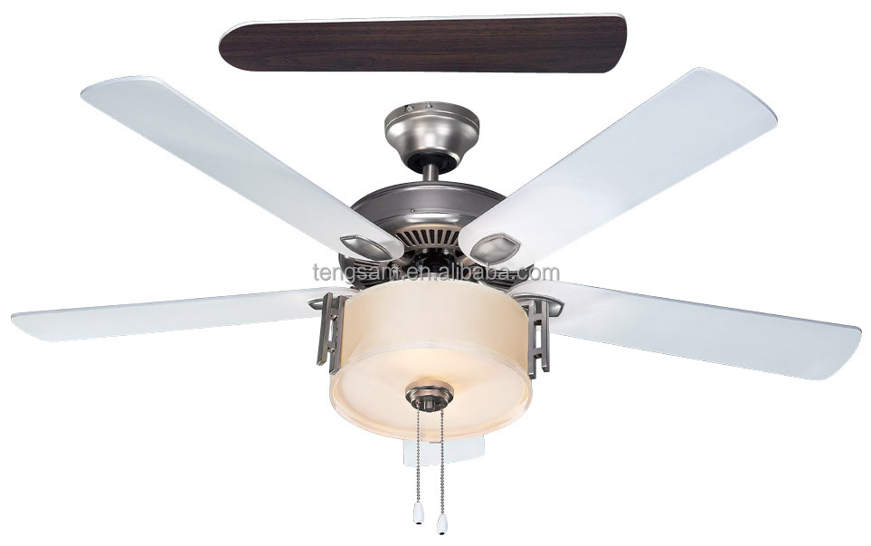 52 ceiling fan with light, remote control or pull chain control, hot sell