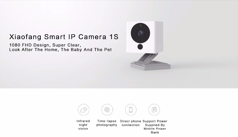 2019 Best price Xiaomi Portable Smart Xiaofang 1s 1080P WiFi IP Camera  Night Vision 8X Digital Zoom APP Control, View CCTV camera, Xiaomi Product