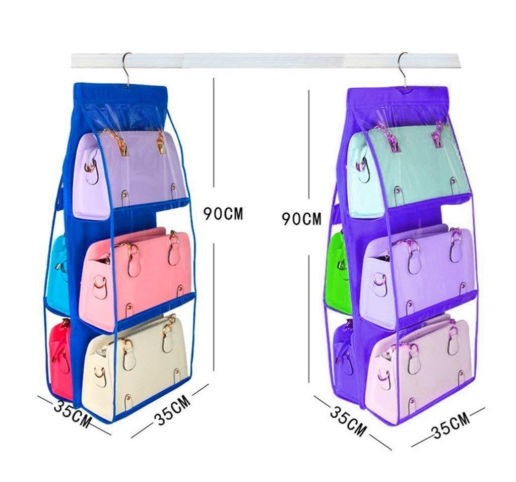 Get Quotations · Atorakushon 6 Pocket Large Clear Purse Handbag Hanging  Storage Bag Organizer Closet Tidy Closet 47e1c8b609c8a