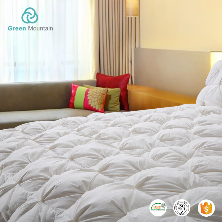 Green Mountain 100% Cotton Hotel Luxury Twisting Design Duck Down bed quilted comforter