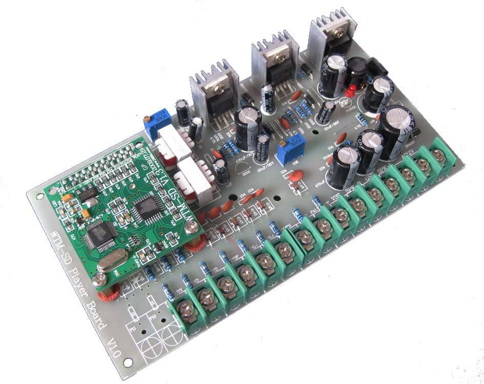 Button control mp3 audio decoder amplifier circuit board
