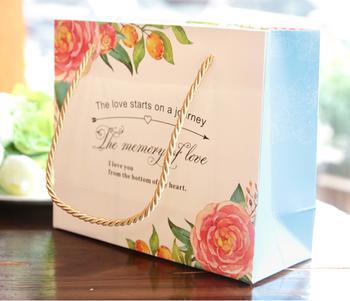 2016 hei er verkauf wei karton papier blue flower big kleines geschenk box f r schokolade. Black Bedroom Furniture Sets. Home Design Ideas
