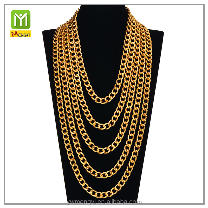 Fashion women accessories 24k Gold Necklace Chain