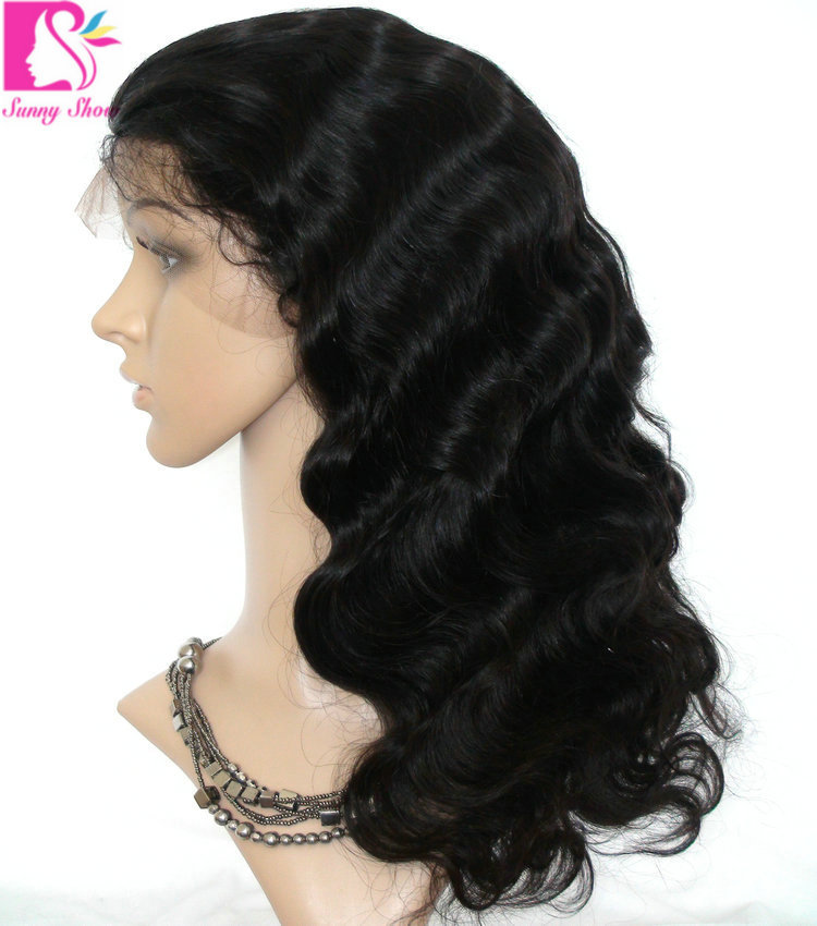 Buy Hot beauty Lace Front Wig Unprocessed Virgin Glueless Full Lace Wig  Indian Body Wave Full Lace Human Hair Wigs For Black Women in Cheap Price  on ... b4631826c