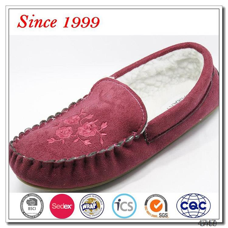 New Winter Fur Moccasin Slippers