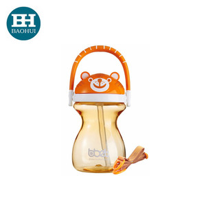 Baby training cup Tritan water bottle drinking cup with straw handle 240ml BPA free OEM