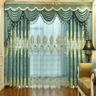 High Quality luxury European style curtain romantic embroidered windows/room curtains