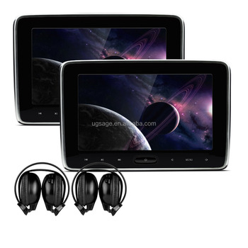 XTRONS 10.1 Inch Region Free headrest DVD Player with HDMI Port & headphones, car back seat monitor