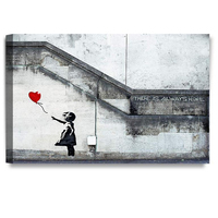 There is Always Hope Graffiti Artworks by Banksy Giclee Print Wall Art for Home Decor and Wall Decor