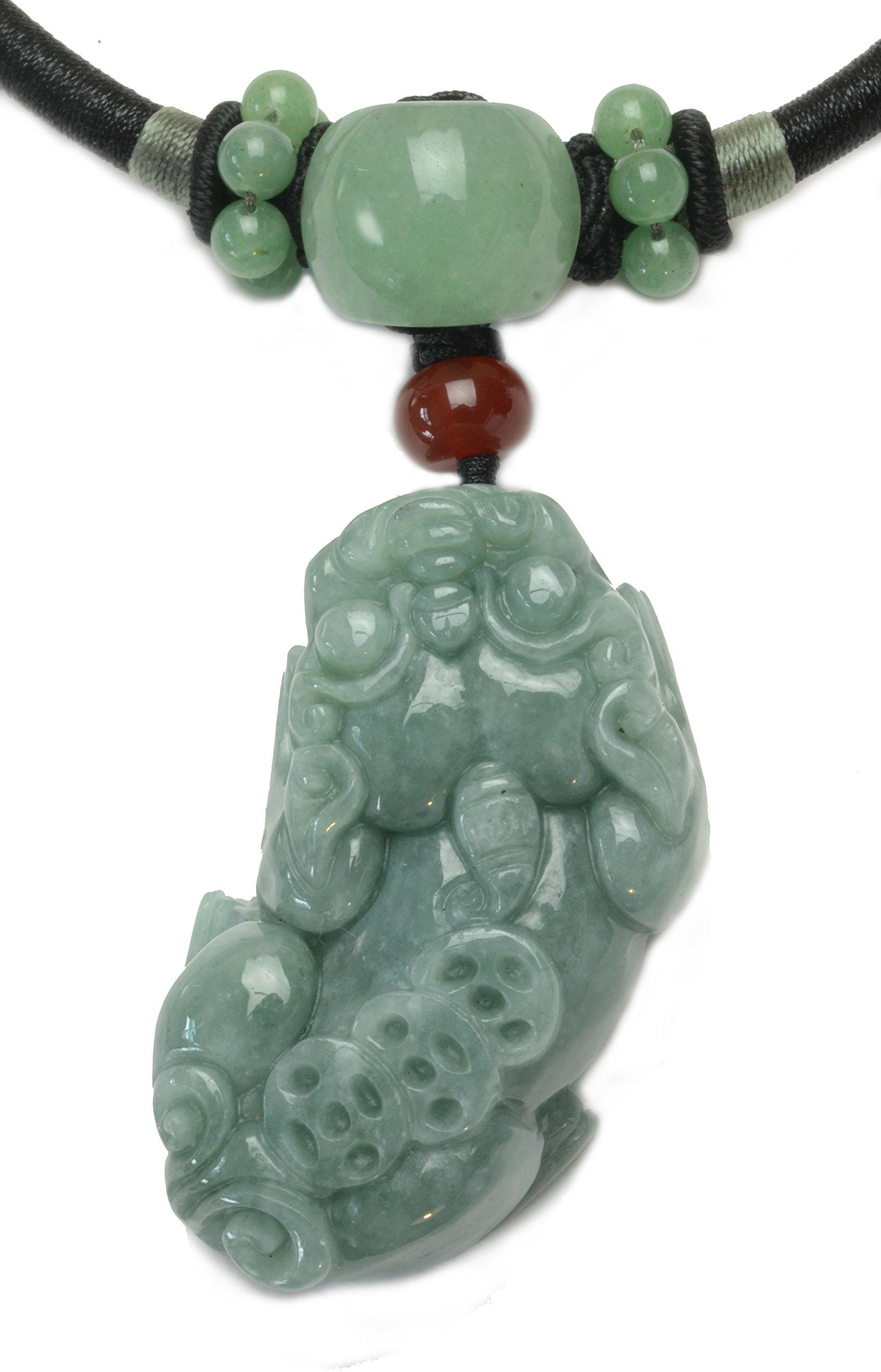 Tiger Zodiac Handmade Jade Necklace Jewelry