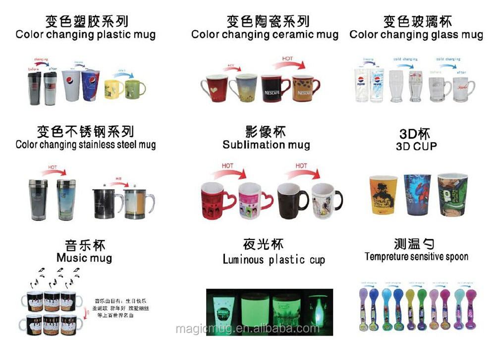 Magic! 2015 Promotional Corporate Gift Mug Color Change Mugs For Sublimation Price