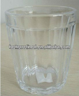 hand pressed glass cup for candle